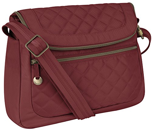 Travelon Anti-Theft Quilt Convertible Bag with RFID Wallet – Burgundy