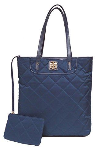 Tommy Hilfiger Tote Handbag Quilted Shoulder Bag 2 Pc Set