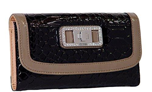 Guess Talara Checkbook Wallet Clutch Bag, Black