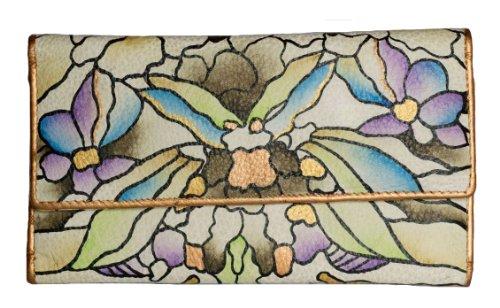 Zimbelmann – Womens Purse – made of genuine Nappa Leather – multicoloured handpainted – Anna