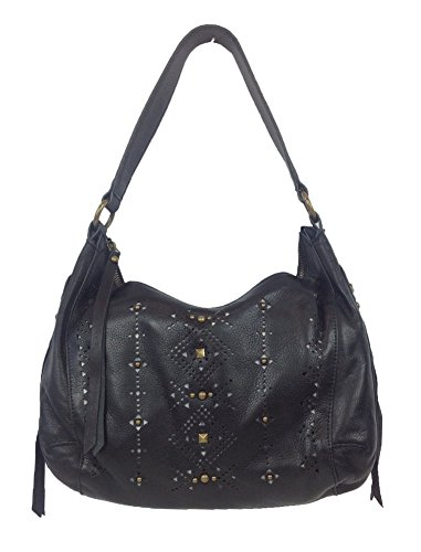 Lucky Brand Newport Leather Hobo Bag, Black