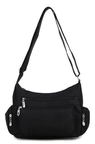 Scarleton Double Pocket Zipper Shoulder Bag H1498