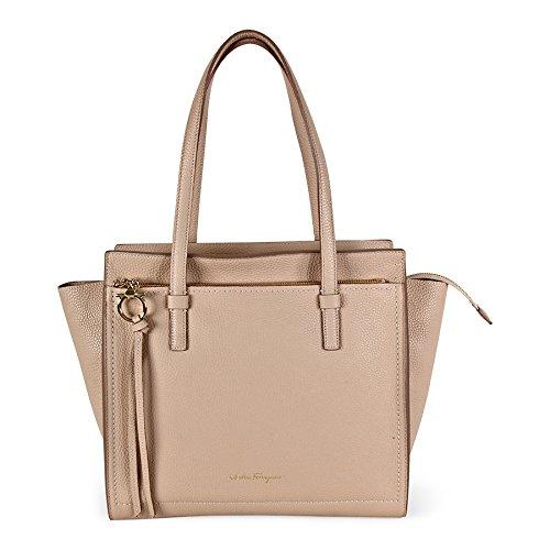 Ferragamo Amy Leather Handbag – New Bisque