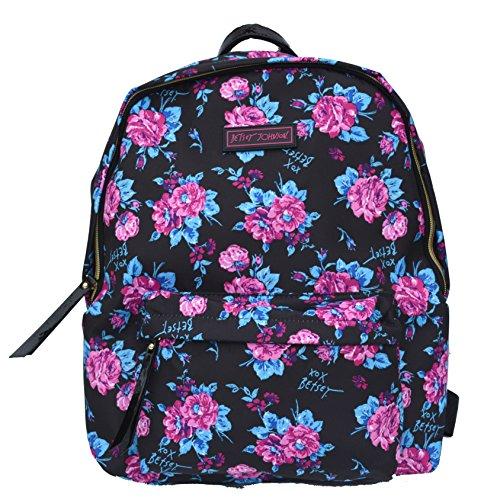 Betsey Johnson Women's Backpack Bag Handbag Purse Purple