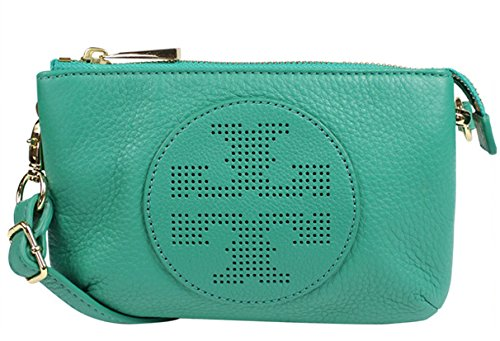 Tory Burch Kipp Small Viridian Green Leather Cross-body