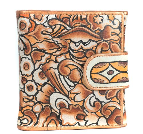 Zimbelmann – Womens Purse – made of genuine Nappa Leather – multicoloured handpainted – Diana – Joana