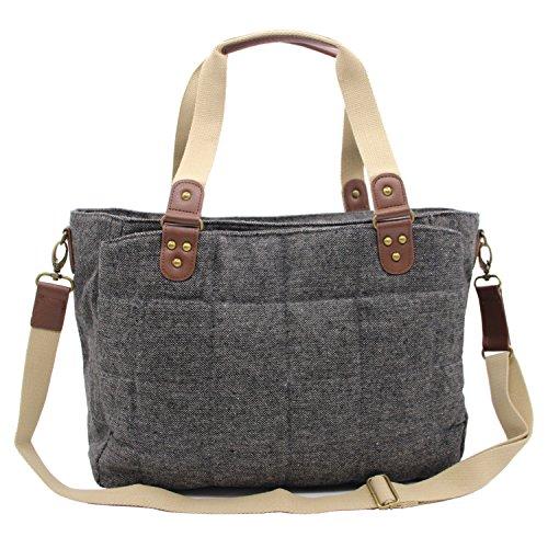 Damero Grey Diaper Tote Bag