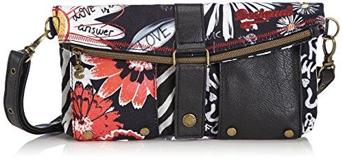 Desigual Clutch Flojigsaw Cross Body Bag, Black, One Size Size