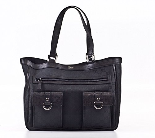 GUCCI ABBEY POCKET TOTE 268639-F5DIR, BLACK