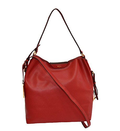 Ralph Lauren Winchester Hobo Red Leather Handbag