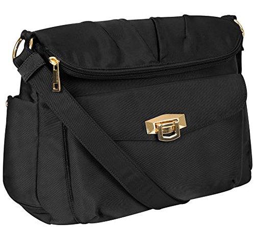 Travelon Pleated Flapover Bag Black