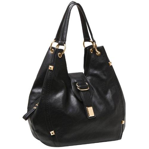 MG Collection COSMA Fashion Pyramid Studded Top Handle Hobo Tote Handbag