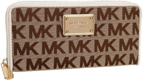 MICHAEL Michael Kors MK Logo Zip-Around Continental Wallet