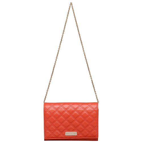 Marc Jacobs Baroque All in One Leather Shoulder Bag in Red