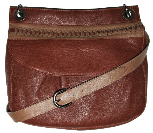 Lenola Women Designer Genuine Leather Brown Crossbody Purse Shoulder Bag