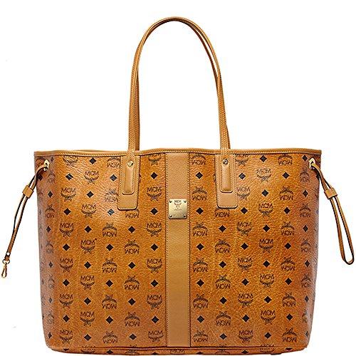 2015 SS MCM Authentic Shopper Project Large Size Shopper Bag (Cognac – MWP5SVI21CO) – WWW Limited Quantity Special Gift – MCM Authentic Pouch