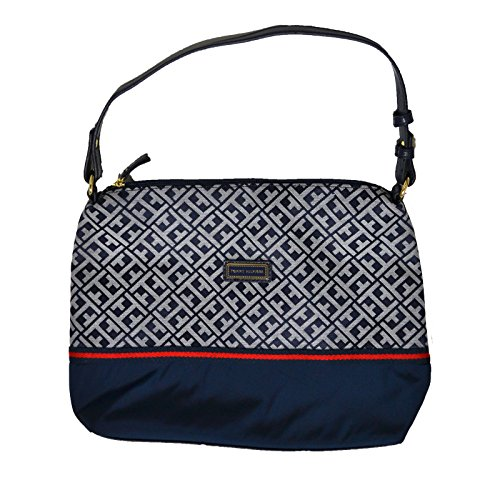 Tommy Hilfiger Small Hobo Shoulder Purse in Navy