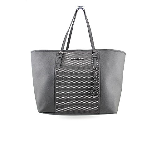 Michael Kors Microstud Center Stripe Womens Leather Tote
