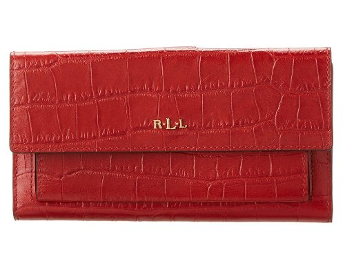 LAUREN by Ralph Lauren Women's Lanesborough Slim Pocket Wallet Red