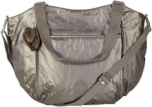 Kipling Gwendolyn Tote Purse in Dusk Grey Metallic