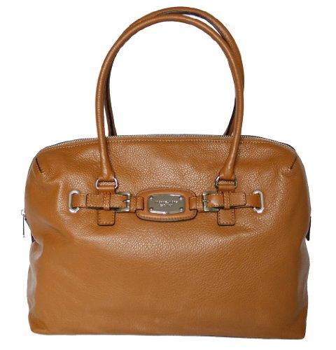 Michael Kors Leather Hamilton Weekender Satchel Tote Handbag Bag