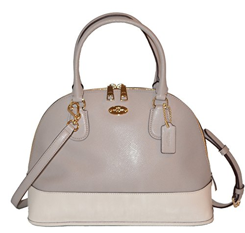 Coach Crossgrain Cora Domed Satchel – Grey Birch/chalk