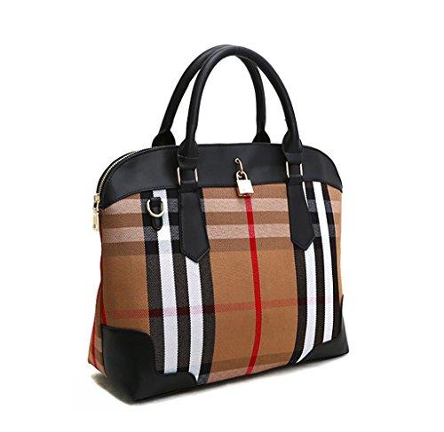Palladium Eugene-pretty Tote Check Pattern Woman Shoulder Cross Evening Bag Soft Leatherette Fabric Sense