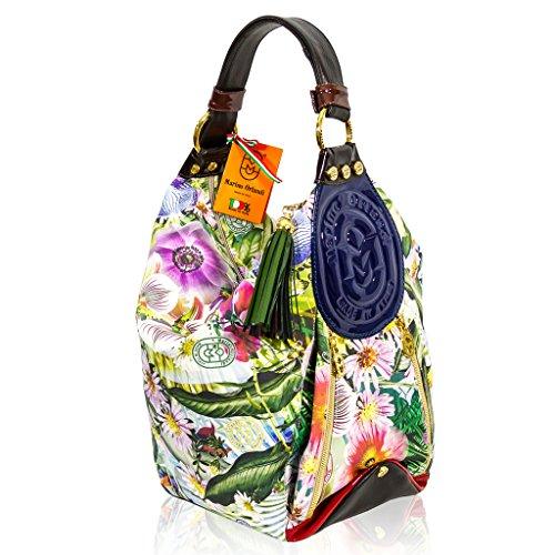 Marino Orlandi Italian Designer VIT FIORE Leather Bucket Sling Purse Bag