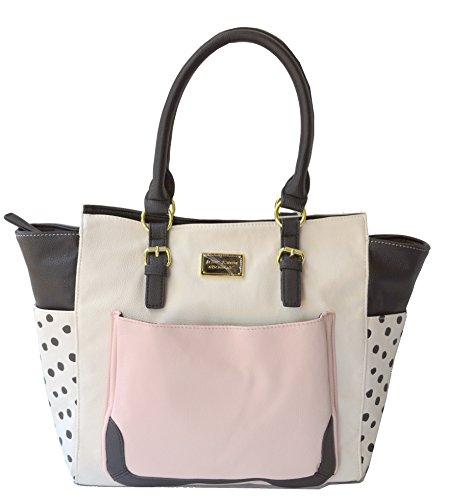 Betsey Johnson Winged Tassel Tote Shoulder Bag, Blush