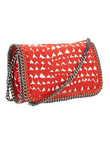 New Stella Mccartney Lipstick Red Heart Printed Falabella Clutch Crossbody Bag