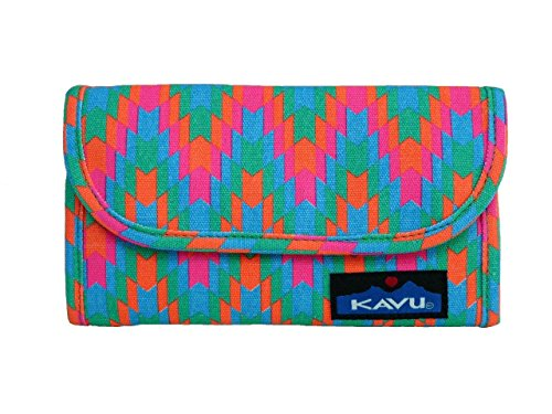 Kavu Women's Big Spender Wallet, Neon Tile, One Size