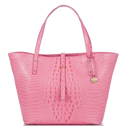 Brahmin NWT All Day Tote Pink Lychee Melbourne Leather Purse K78151YC BAG
