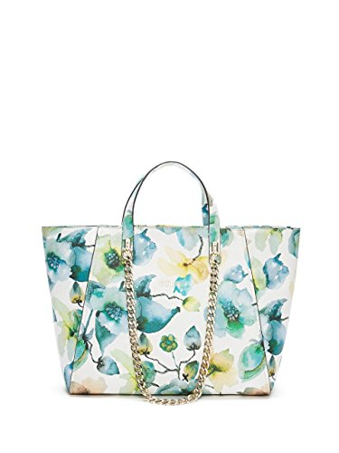 GUESS Women's Nikki Floral-Print Chain Tote