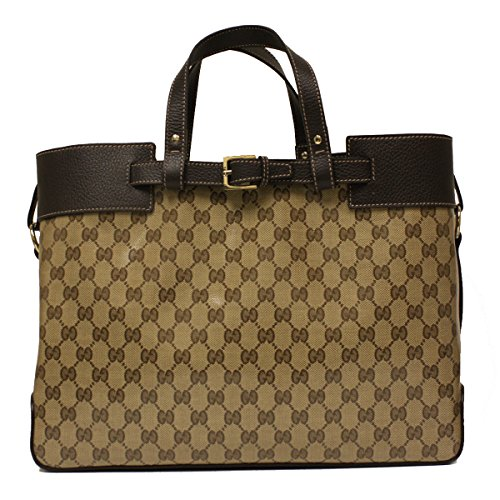 Gucci Crystal Coated Canvas and Leather GG Logo Tote Bag 336663