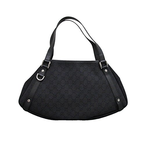 Gucci Black Denim Abbey Hobo Tote Bag Handbag 293578