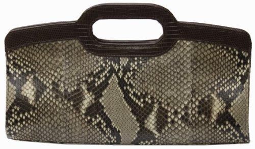 Shoulder Bag in Python and Lizard
