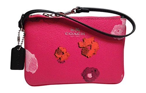 Coach Pink Floral Print Small Wristlet F53130