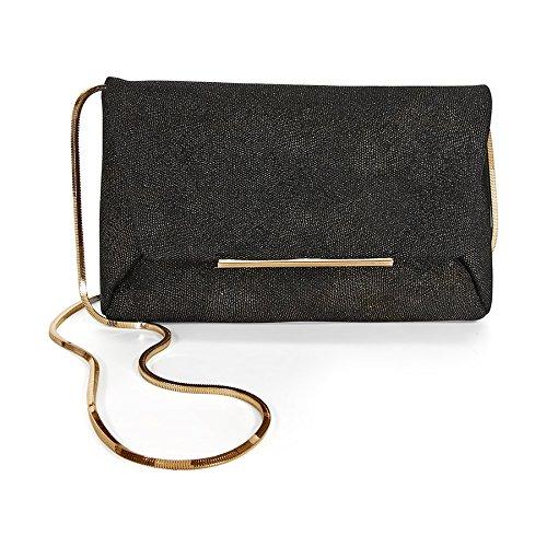 Lanvin Mai Tai Clutch Goatskin Clutch Bag – Black
