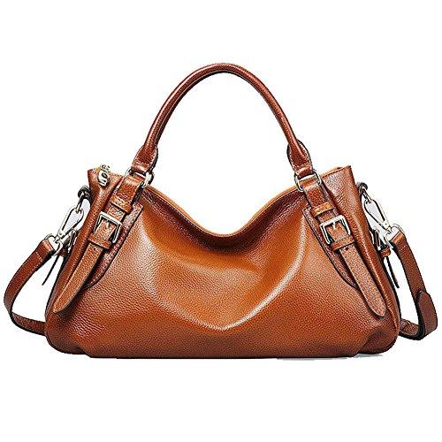 Kattee Genuine Leather Hobo Shoulder Bag