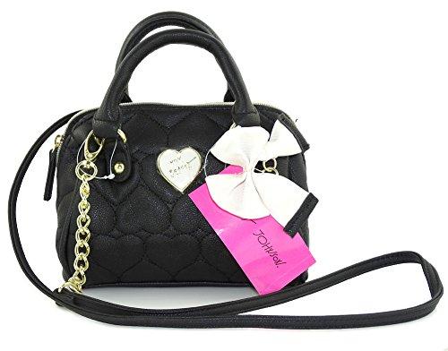 Betsey Johnson Be Mine Mini Barrel XBody Crossbody Bag Handbag