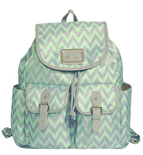 Jessica Simpson Chevron Backpack Tote Handbag Bag Purse Mint