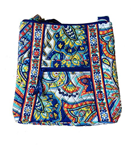 Vera Bradley Hipster in Marina Paisley with Solid Red Interior