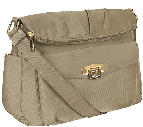 Travelon Pleated Flapover Bag Champagne