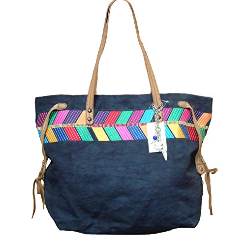 Lucky Brand Arrowhead Shoulderbag Tote Shopper Bag- Denim