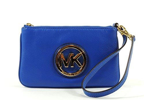 MICHAEL Michael Kors Fulton Pebble Leather MK Medallion Wristlet / Purse