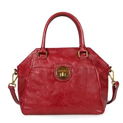 Elliott Lucca Cherry Red Leather Satchel Purse