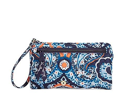 Vera Bradley Front Zip Wristlet Marrakesh Motifs Bag Carryall Wallet Clutch