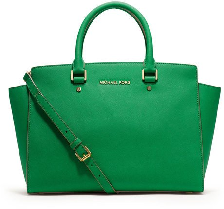 MICHAEL Michael Kors Women's Selma Large TZ Satchel, Palm, One Size