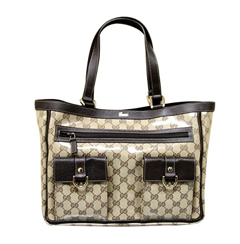 Gucci Beige Crystal Abbey Tote Handbag Purse 268639