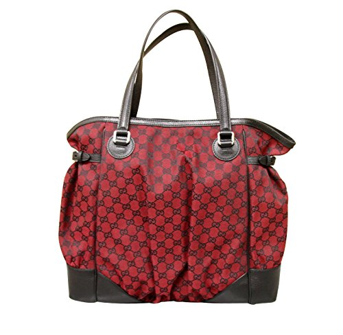 Gucci Handbags Large Red and Black Leather 257290
